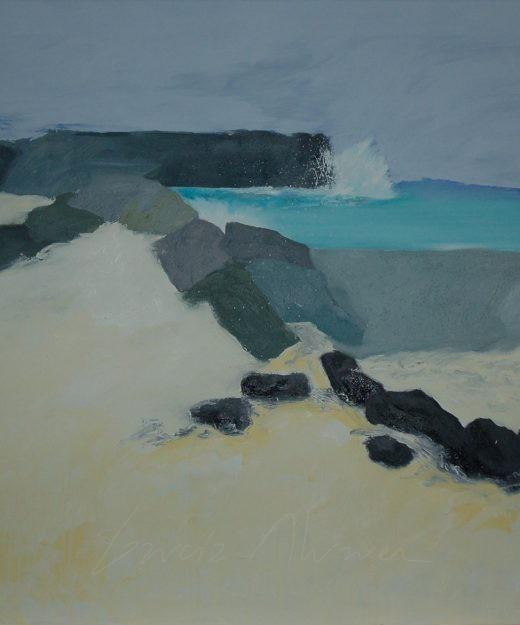 "Cuadro ""La Graciosa"". 114 x 146 cm. Óleo sobre lienzo. 2010"